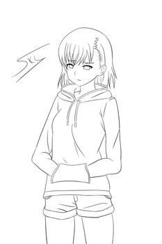 Sweat Misaka Mikoto - Line Art