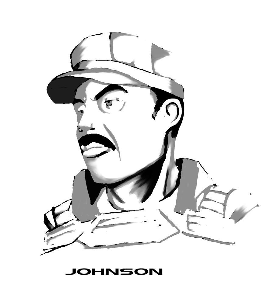 Sergeant Johnson ink by Ghostwalker2061