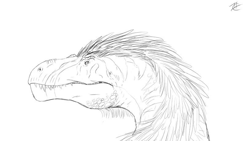 Dino sketch by Ghostwalker2061