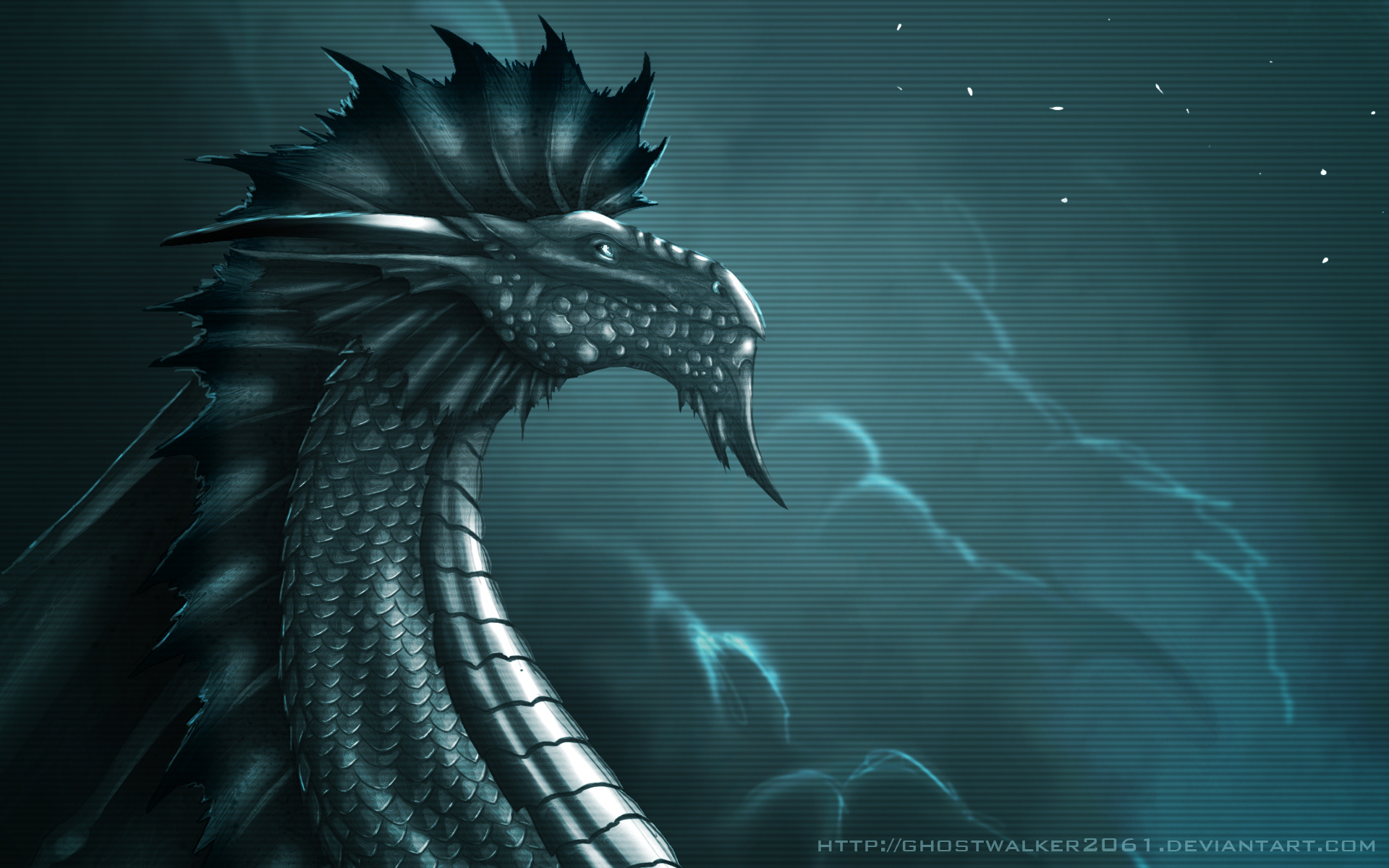 Silver Dragon Wallpaper By Ghostwalker2061 On Deviantart