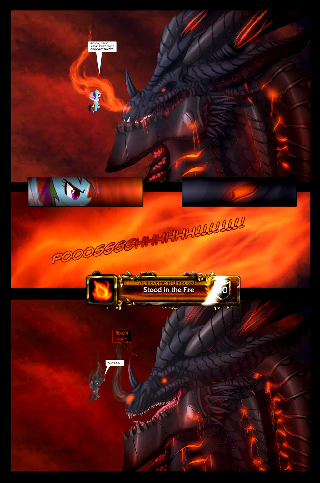 Rainbowdash Stands in the Fire by Ghostwalker2061