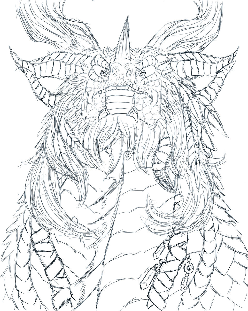 detailed dragon coloring pages - photo #7