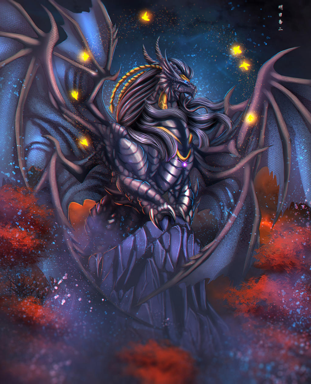 King Bahamut and the Seven Canaries by Ghostwalker2061 on DeviantArt