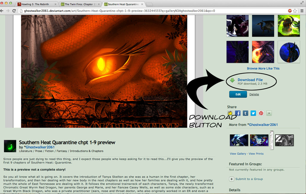 How to Download a PDF on Deviant Art by Ghostwalker2061 on DeviantArt
