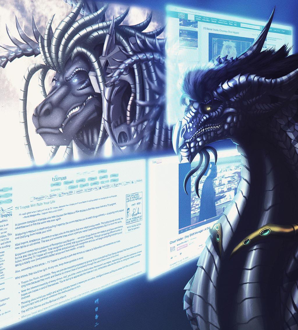 Dunkelzahn the Mass Media Dragon by Ghostwalker2061