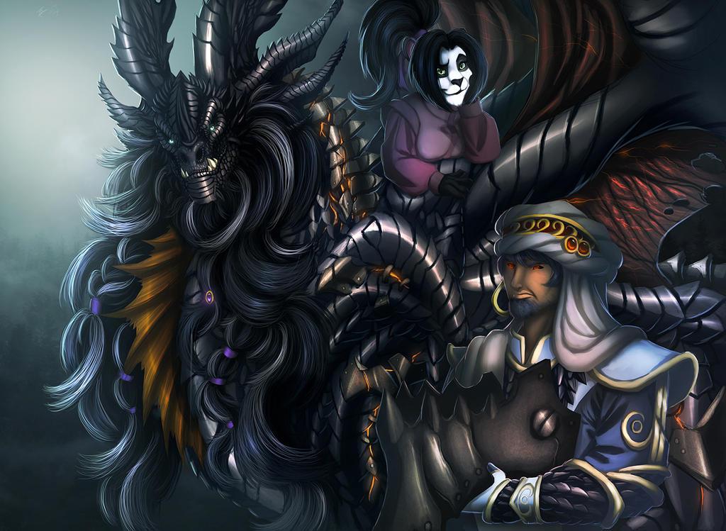 Wrathion Neltharion Lili Stormstout by Ghostwalker2061