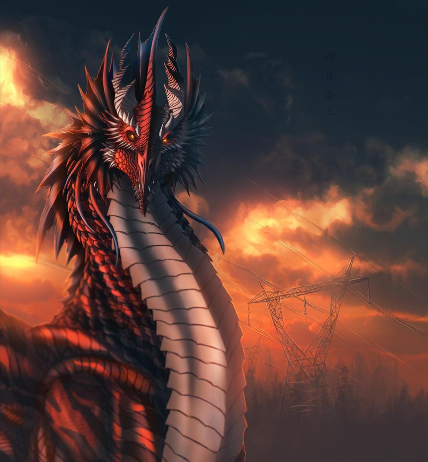 the southeastern great red wyrm by ghostwalker2061 on