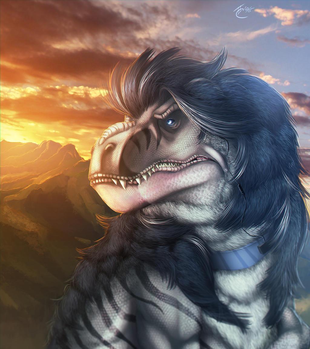 The Fuzzy T rex by Ghostwalker2061