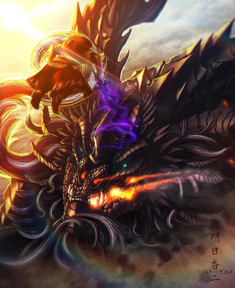 Ganondorf vs. Neltharion by Ghostwalker2061