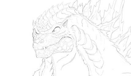 I still cannot draw Godzilla
