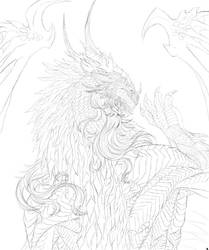 Sketch of Neltharion done