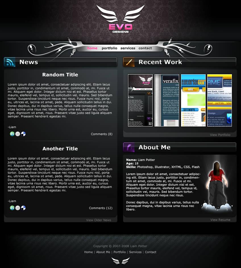 Evo Designs - New Portfolio by radioactivity