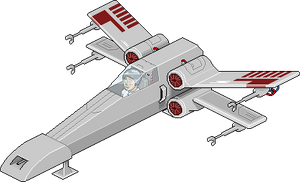 X Wing fighter (Habbo Style)