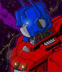 Alex Milne SDCC09 Optimus Prime in Color