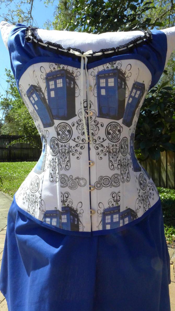 TARDIS corset by Timestitcher