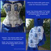 TARDIS Victorian underwear collage by Timestitcher
