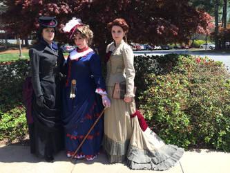Femme Victorian Sherlock, Watson, and Mycroft by Timestitcher