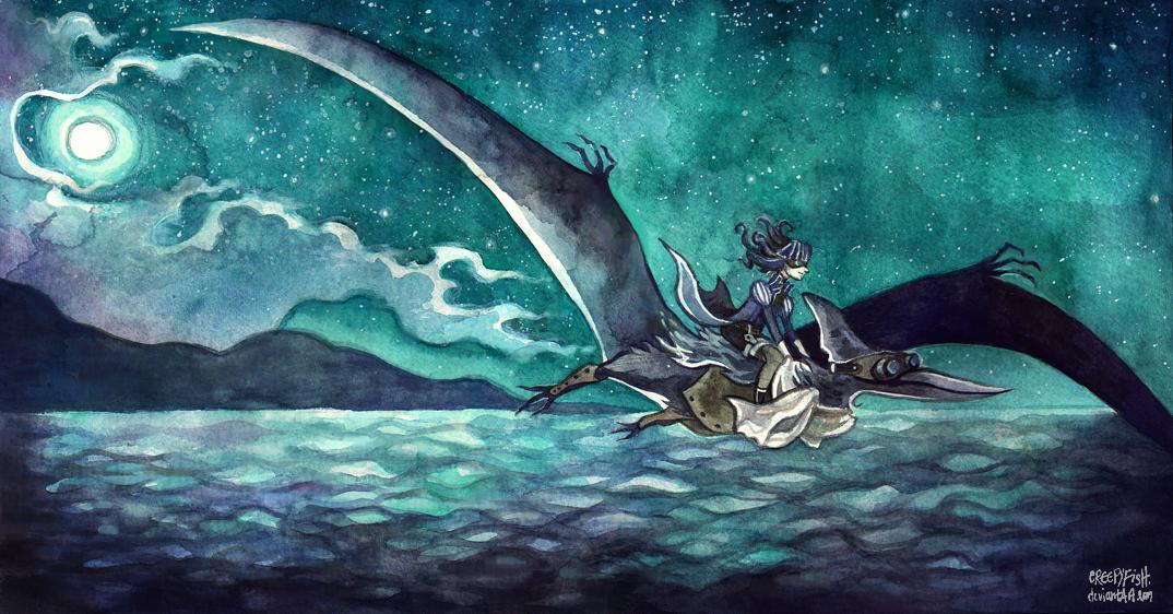 Soaring above Emerald Seas by cryptosilver
