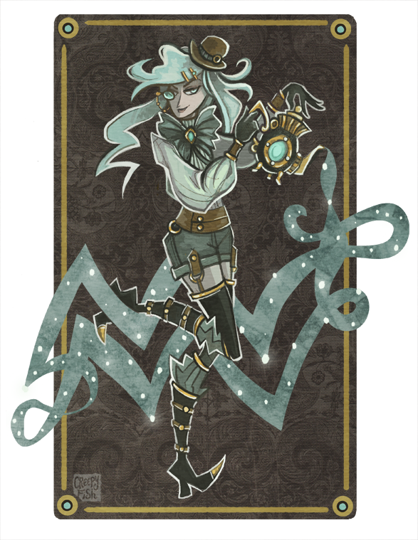 Steampunk Aquarius by creepyfish