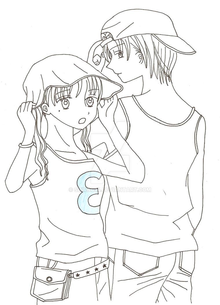 Mikan and Natsume by shira094