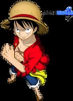 Mugiwara No Luffy - One Piece(Coloring) by aeroblade7