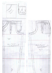 Dollfie Mens trousers pattern by DedHampster
