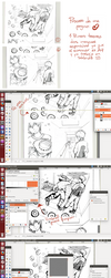 Proceso: comic page by Clausu