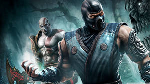 Kratos And Sub-zero From Mortal Kombat