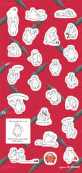 Baymax Mini Stickers by ayeru