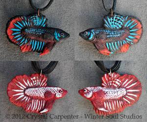 Betta Fish Pendants