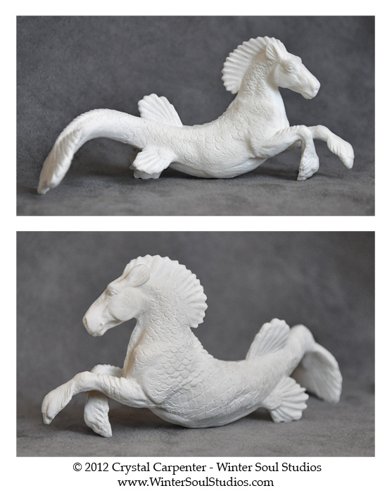 Hippocamp Figurine - Unpainted by soulofwinter