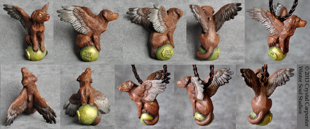 Dog Light Pendants - Chocolate Lab by soulofwinter