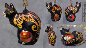Smolder - Feline Pendant by soulofwinter