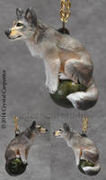 Wolf Moss - Canine Pendant by soulofwinter