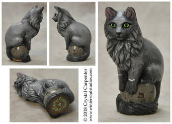Altar Cats - Fluffy Blue by soulofwinter