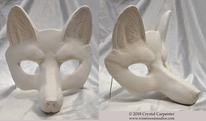 Fox Blank Mask by soulofwinter