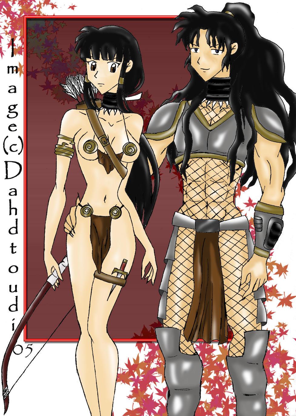 Pred Style Kikyou And Naraku By Dahdtoudi