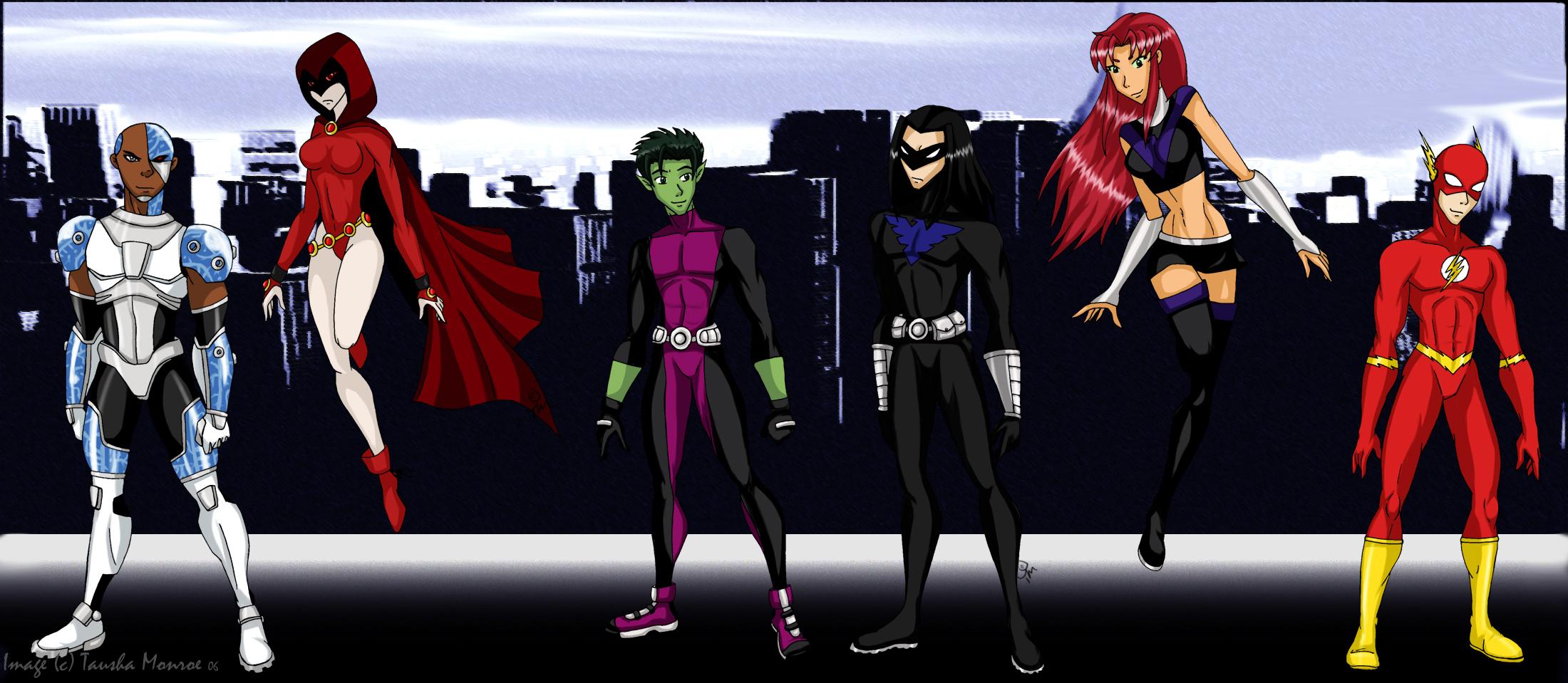 Teen Titans All Grown up by Dahdtoudi