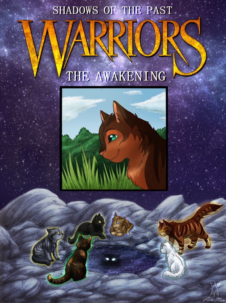 Old Book Cover Generator ~ Warrior shadows of the past cover coloured by min mew on