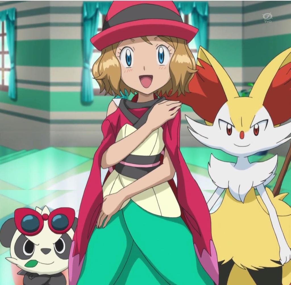 Pokemon Ash And Serena Drawing