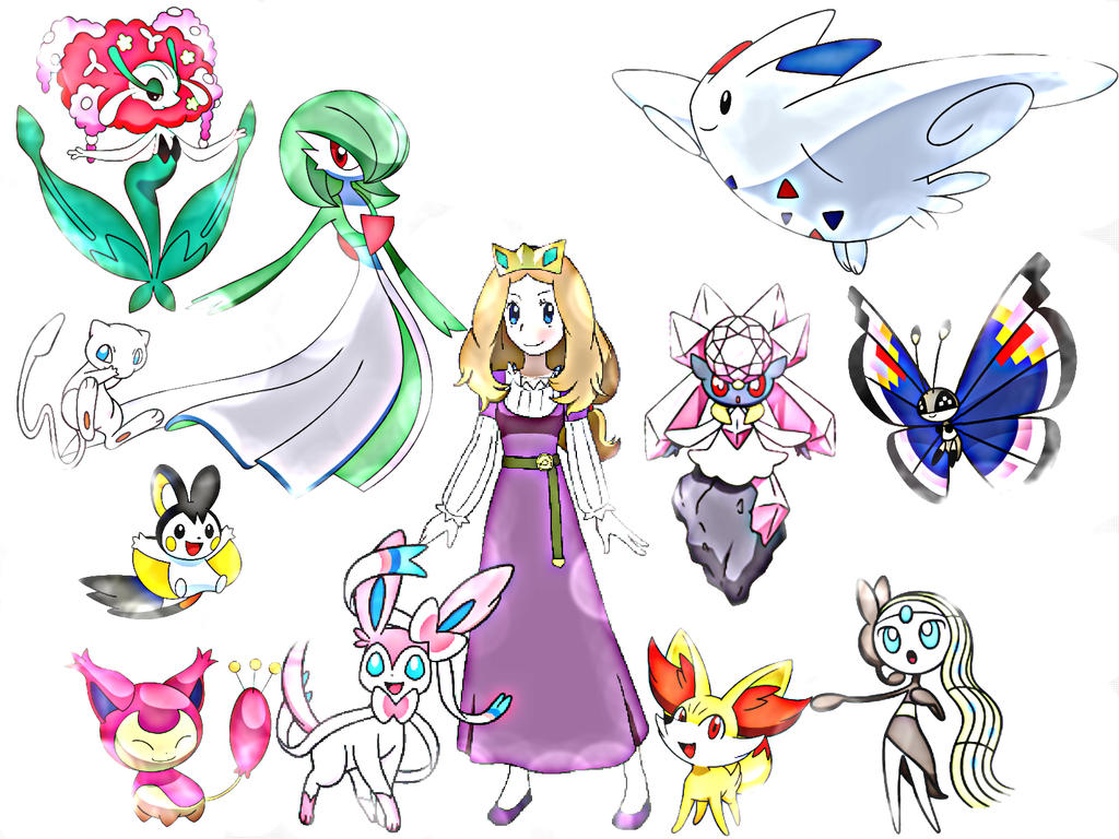 Princess serena with beautiful pokemons by - The most adorable pokemon ...