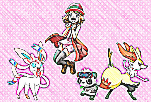 Serena with her Team~2