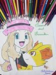 Serena and Fenniken Hand Drawing~1