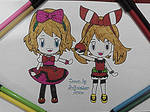 Chibi May and Serena~Hand Drawing-24