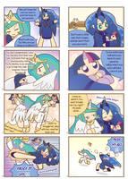 Humanized pony comic 3 ,4 by HowXu