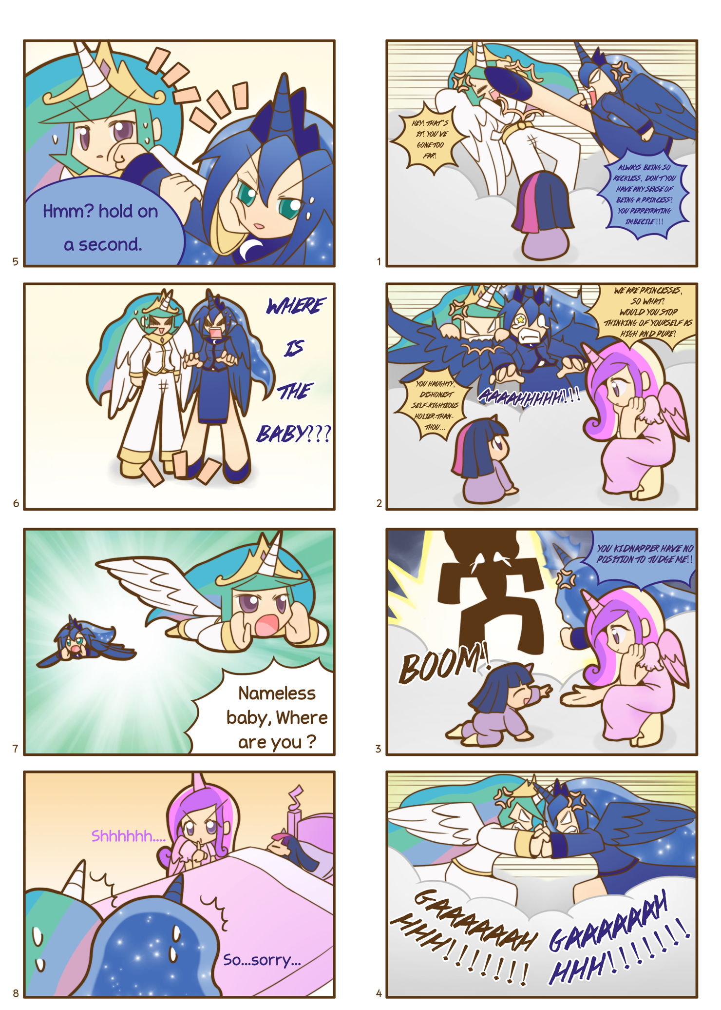 Humanized pony comic 5 ,6 by HowXu