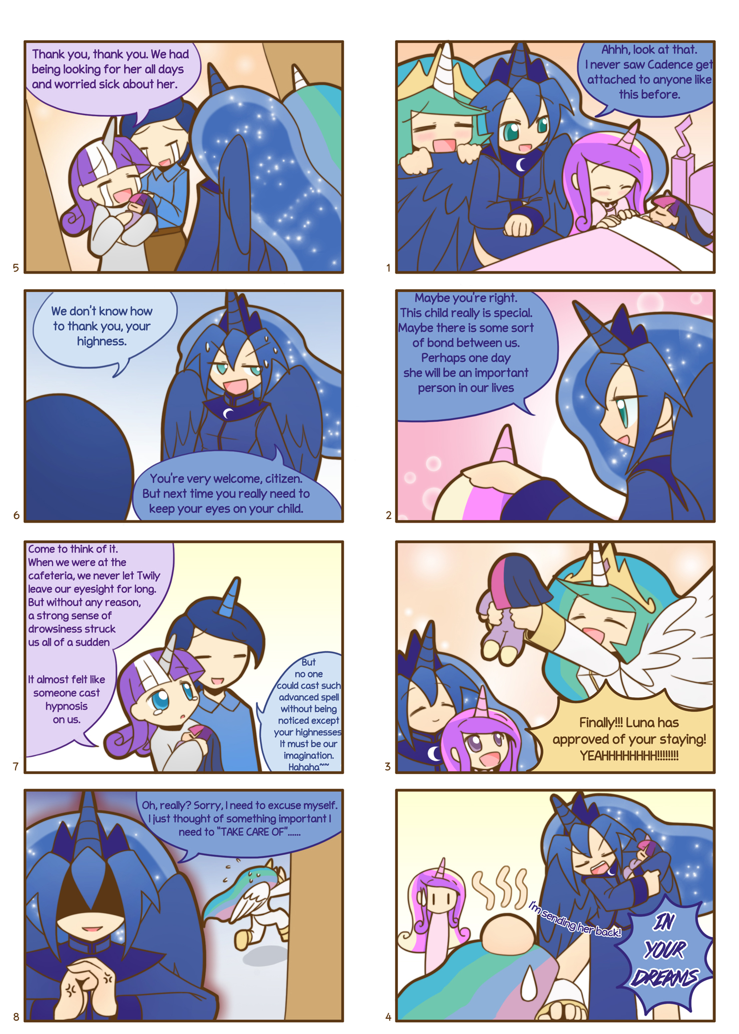 Humanized Pony comic 7, 8 by HowXu