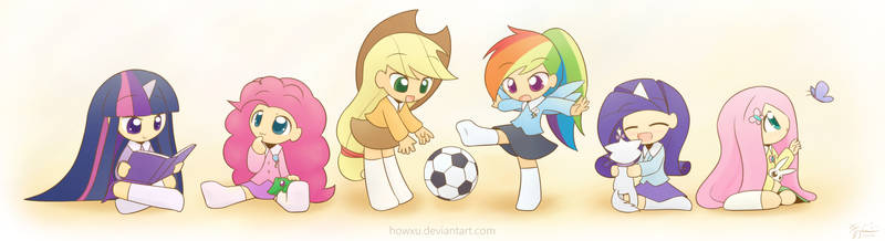 My Little Kindergarten mane 6