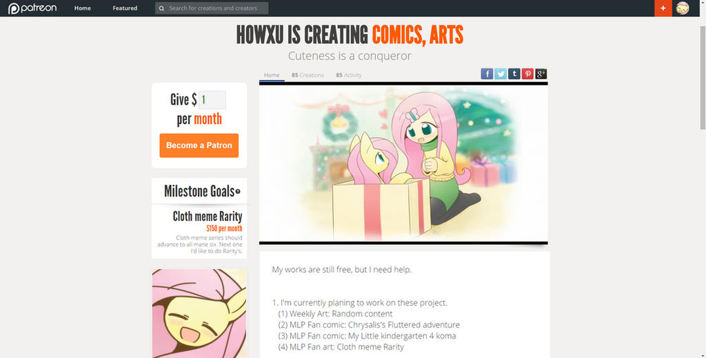 Patreon Page by HowXu