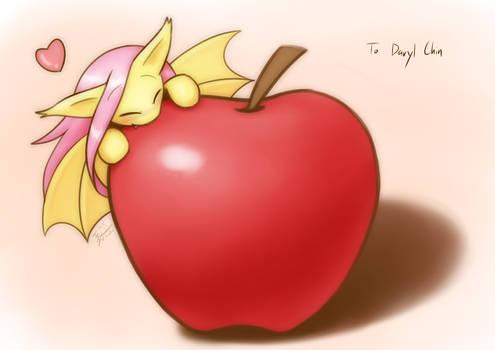 Commission Bat on an apple